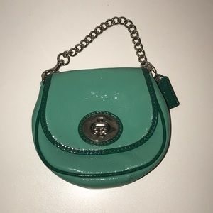 Mini mint Coach purse